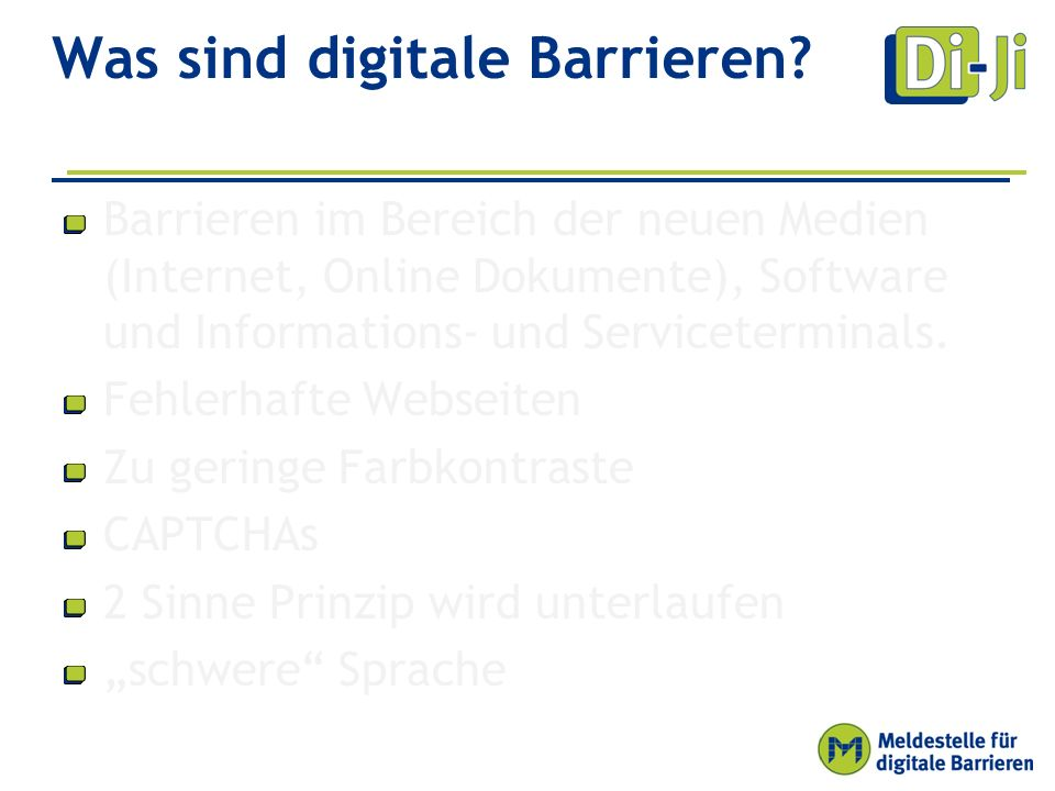 Was sind digitale Barrieren.