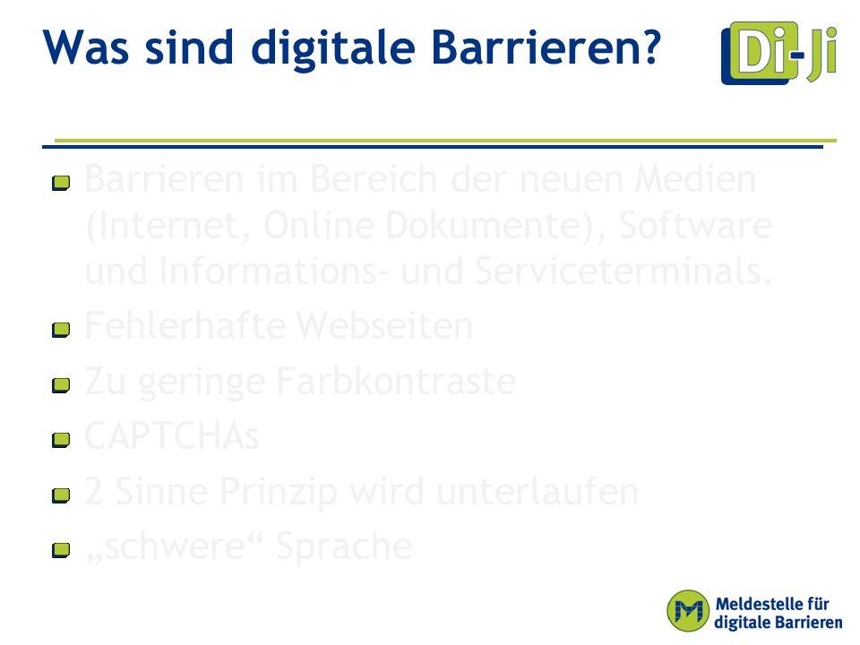 Was sind digitale Barrieren.
