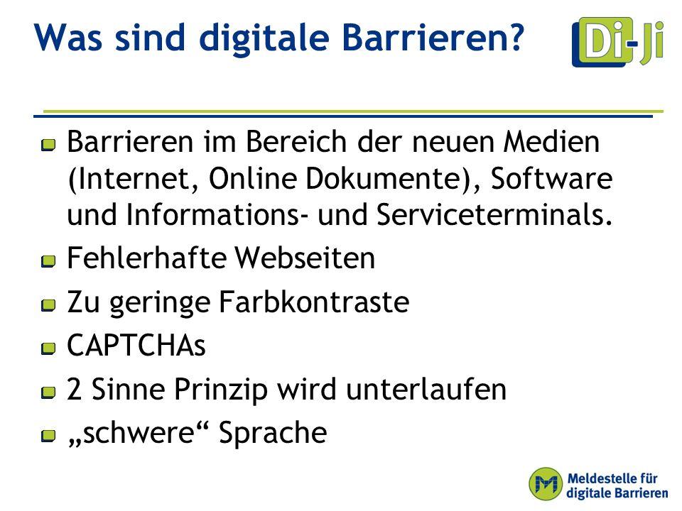 Digitale Barrieren abbauen Qualität fördern Um digitale Barrieren zu beseitigen, müssen digitale Angebote auf Barrierefreiheit hin untersucht werden.