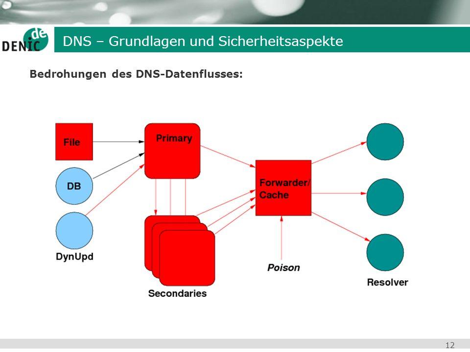 12 Bedrohungen des DNS-Datenflusses: DNS – Grundlagen und Sicherheitsaspekte