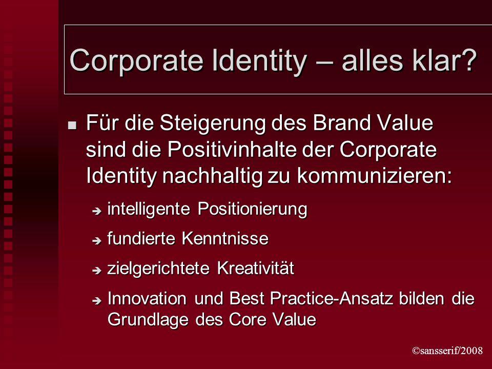 ©sansserif/2008 Corporate Identity – alles klar.
