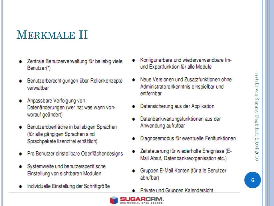 M ERKMALE II 6 erstellt von Sammy Baghdadi, 29.04.2010