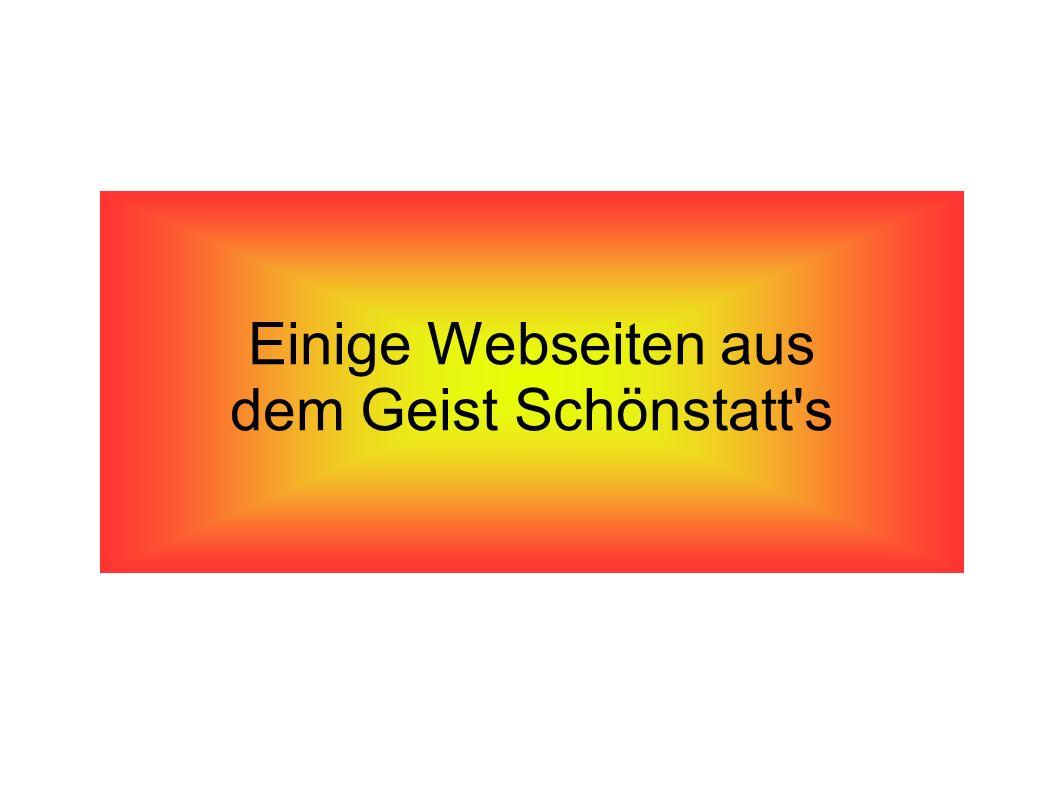 Einige Webseiten aus dem Geist Schönstatt's