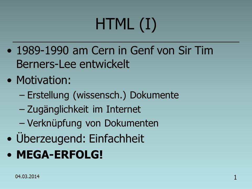 Informatik – 9 Einführung in HTML
