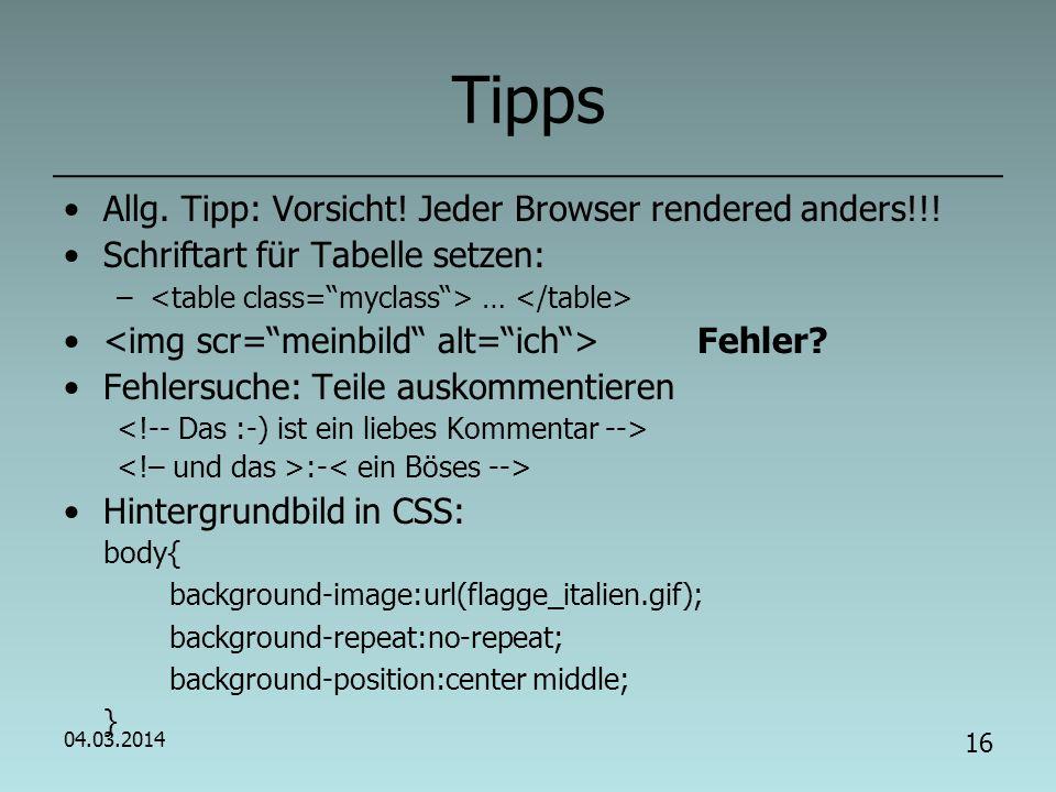 Jede/Jeder stellt sich auf eigener HTML-Seite vor.