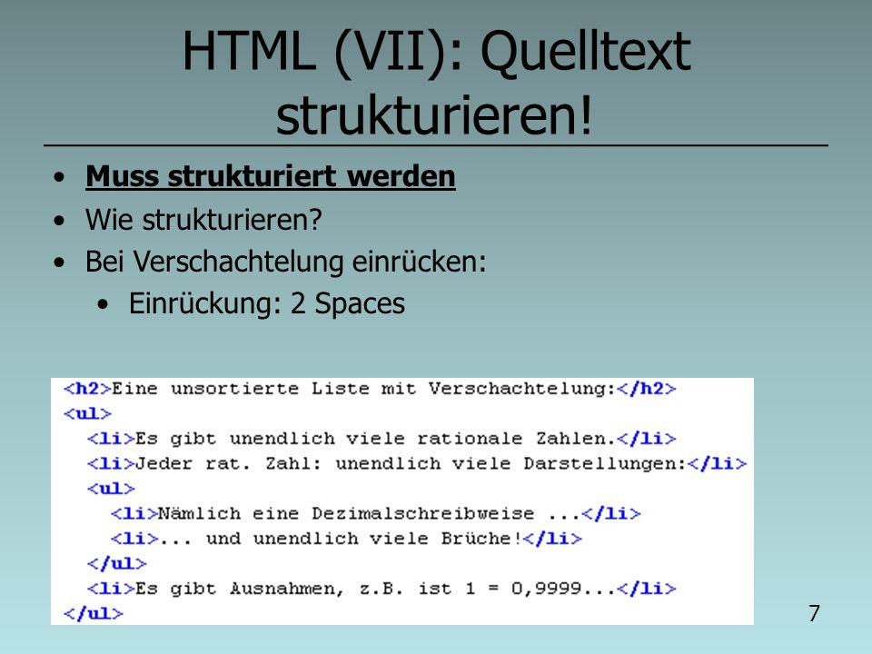 04.03.2014 6 HTML (VI) – Übung (II) Baue die Seite links möglichst originalgetreu nach.