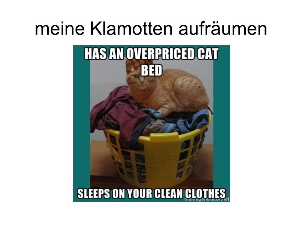 meine Klamotten aufräumen