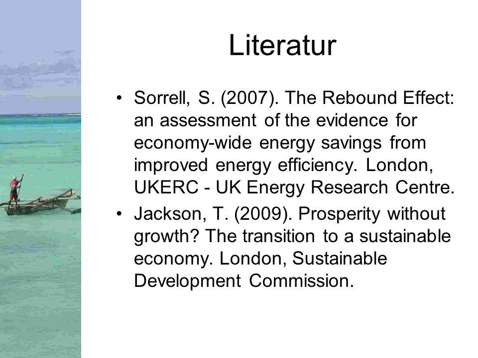 Literatur Sorrell, S.(2007).