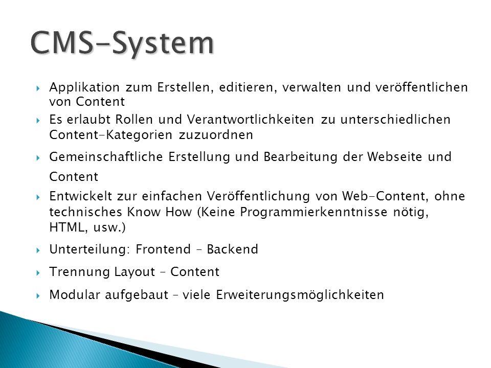 2000 Miro Software Solutions entwickelt Jango CMS April 2001 OpenSource Projekt Mambo August 2005 Gründung der Mambo Foundation Joomla.