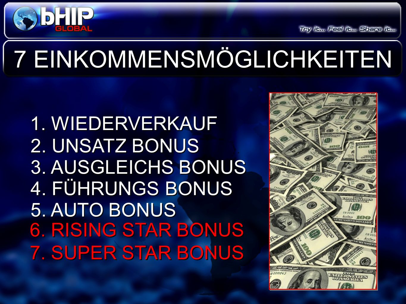 LEADERSHIP RECAP Right Active GL STAR Bonus Leadership Rank 1 STAR (GL) 2 STAR (GL) 3 STAR (GL) 4 STAR (GL) 5 STAR (GL) Diamond (GL) 30 90 250 1,000 2,500 10,000 Total: 1,500,000 30 90 250 1,000 2,500 10,000 $3,000 $7,000 $40,000 $250,000 6 STAR (GL)5,000 $200,000 Left Active GL Leadership Match 20% 10% GL CAR Bonus $500 $750 $1,000 $2,000 $1,500 Double Diamond (GL) 25,000 $1,000,000 Autoship of ONLY $29.95 per month