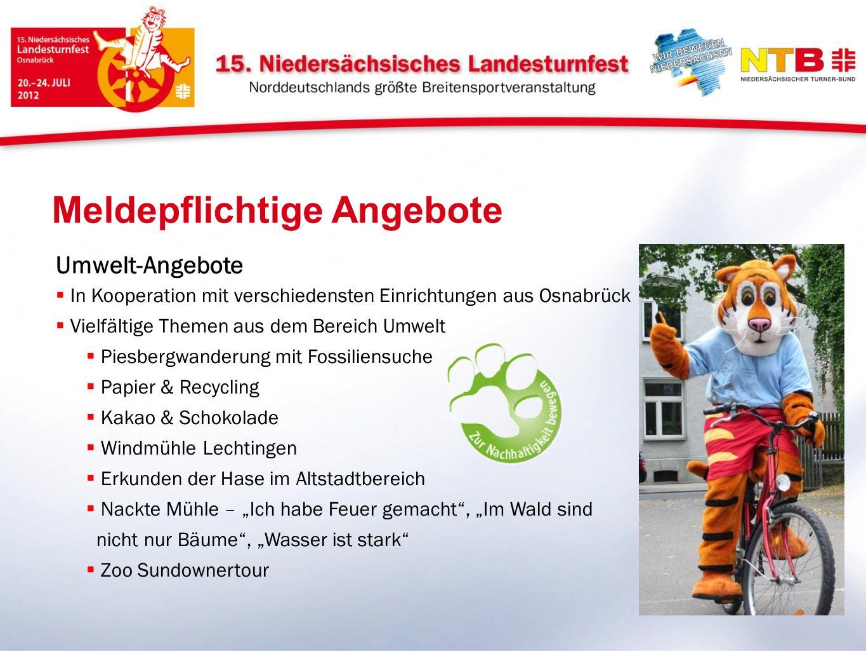 Meldepflichtige Angebote Umwelt-Angebote In Kooperation mit verschiedensten Einrichtungen aus Osnabrück Vielfältige Themen aus dem Bereich Umwelt Pies