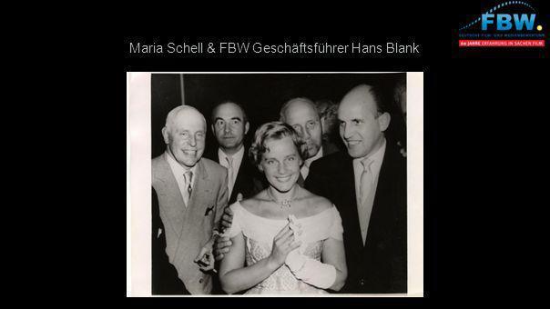 Maria Schell & FBW Geschäftsführer Hans Blank