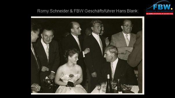 Romy Schneider & FBW Geschäftsführer Hans Blank