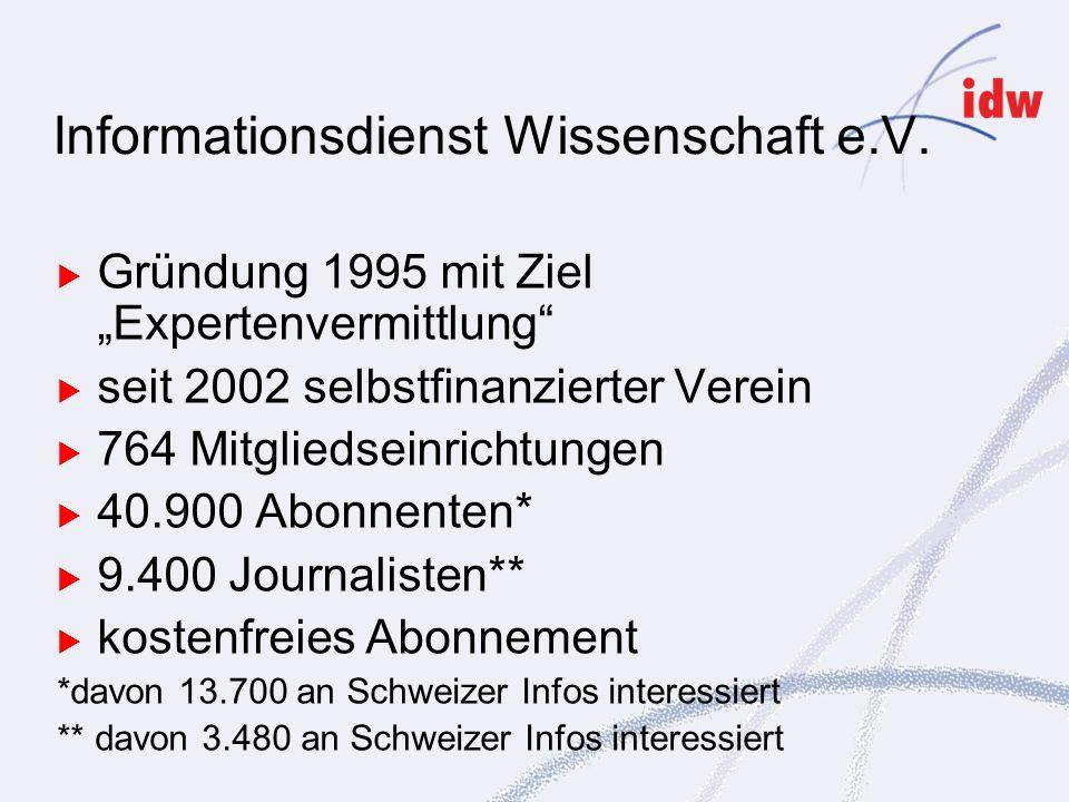 Informationsdienst Wissenschaft e.V.