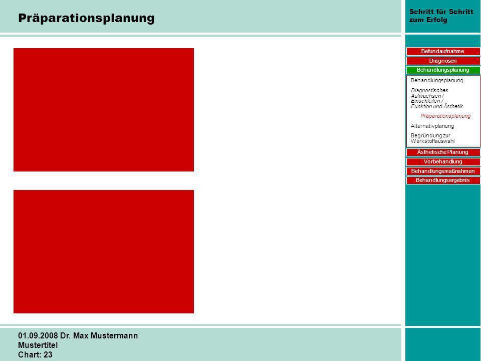 Schritt für Schritt zum Erfolg 01.09.2008 Dr. Max Mustermann Mustertitel Chart: 23 Neues Bild (andere Seite) wird gescannt. Befundaufnahme Diagnosen B