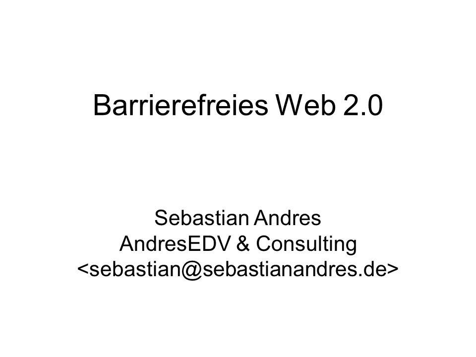 Übersicht Vortrag iico.de Kongress 2007 Wiederholung: Was ist ein Screenreader.