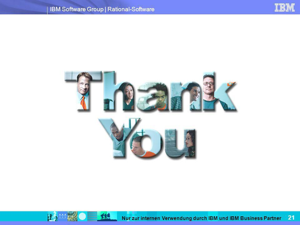 IBM Software Group | Rational-Software 21 Nur zur internen Verwendung durch IBM und IBM Business Partner