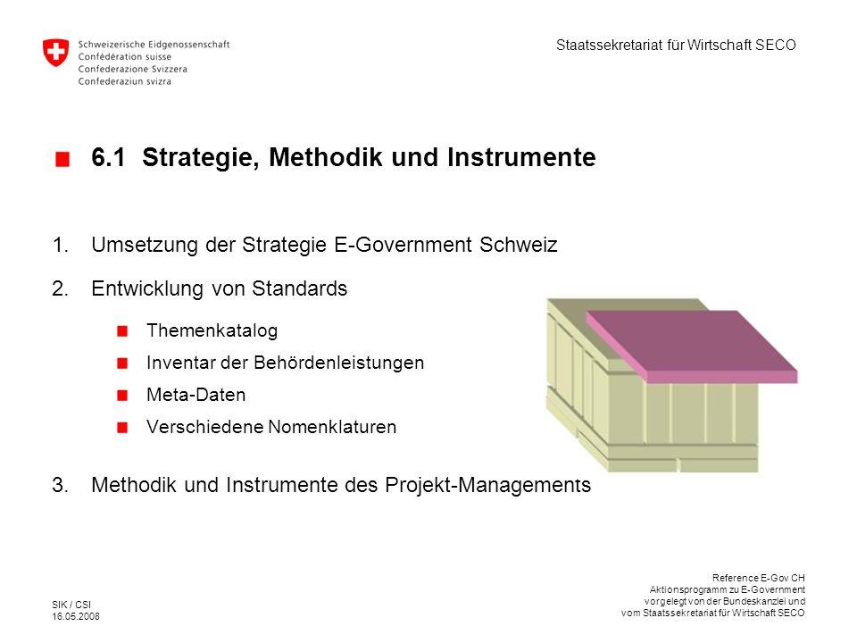 Staatssekretariat für Wirtschaft SECO SIK / CSI 16.05.2008 Reference E-Gov CH Aktionsprogramm zu E-Government vorgelegt von der Bundeskanzlei und vom