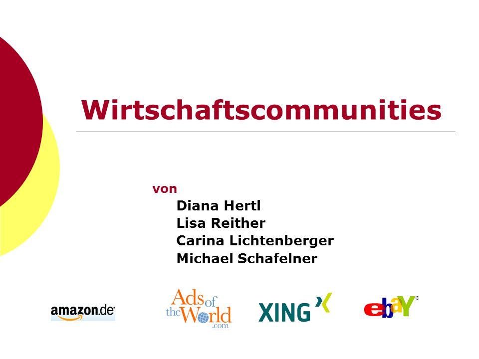 Wirtschaftscommunities von Diana Hertl Lisa Reither Carina Lichtenberger Michael Schafelner