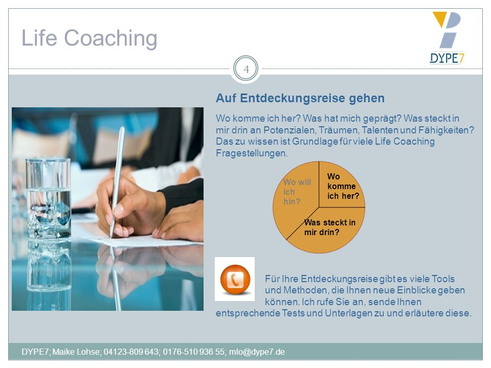 Life Coaching 4 Auf Entdeckungsreise gehen Wo komme ich her? Was hat mich geprägt? Was steckt in mir drin an Potenzialen, Träumen, Talenten und Fähigk