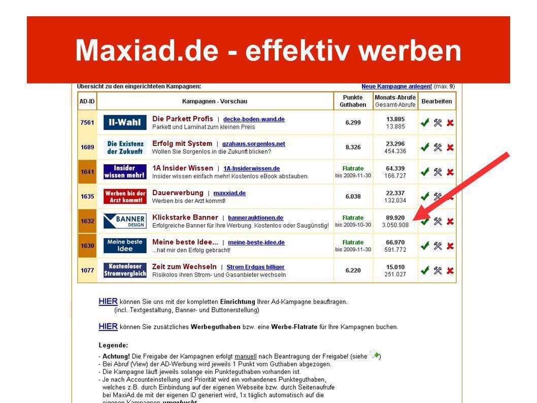 Maxiad.de - effektiv werben