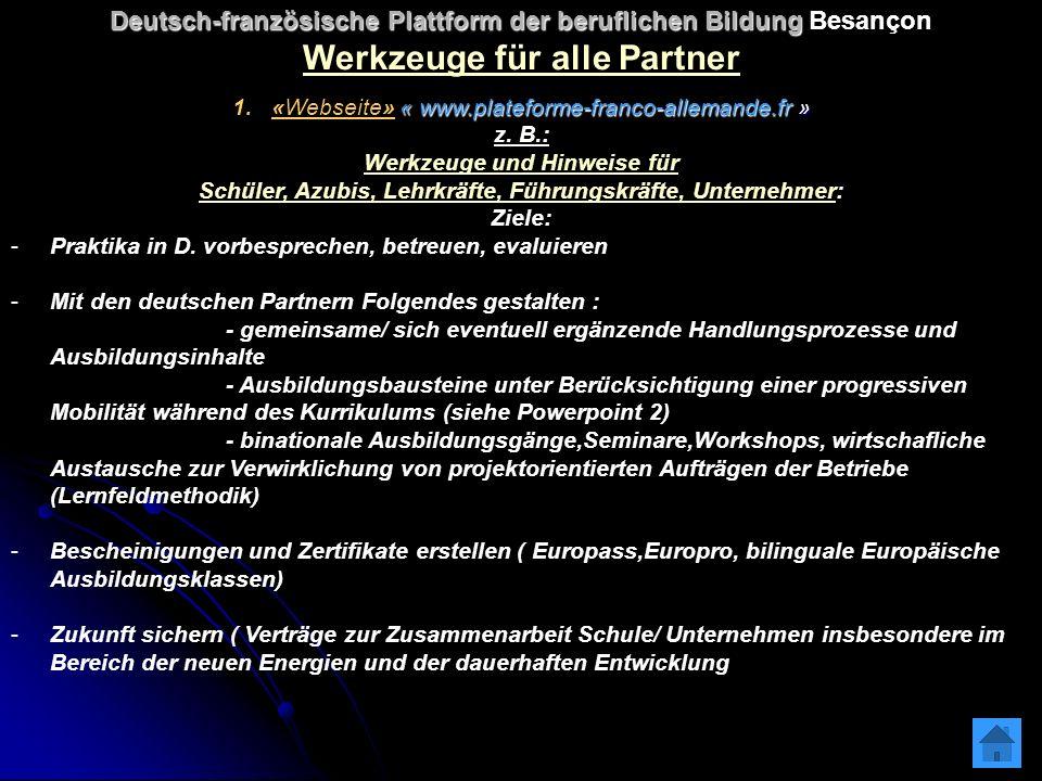 « www.plateforme-franco-allemande.fr » 1.«Webseite» « www.plateforme-franco-allemande.fr » z.