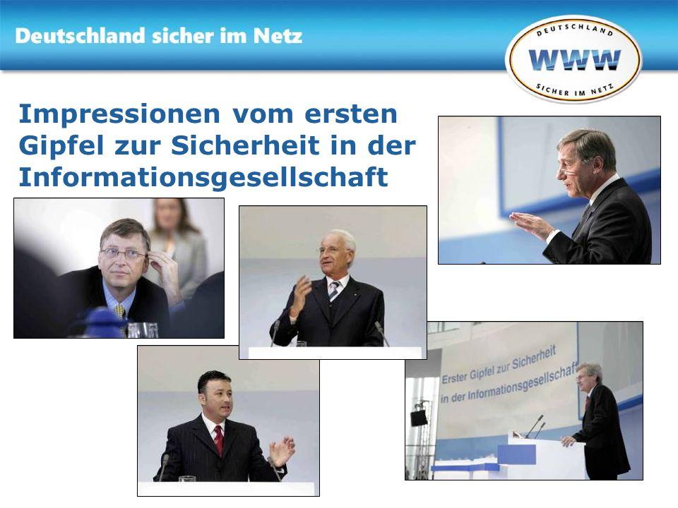 Gemeinsam für Online-Sicherheit www.sicher-im-netz.de Gemeinsam für Online-Sicherheit www.sicher-im-netz.de Impressionen vom ersten Gipfel zur Sicherh