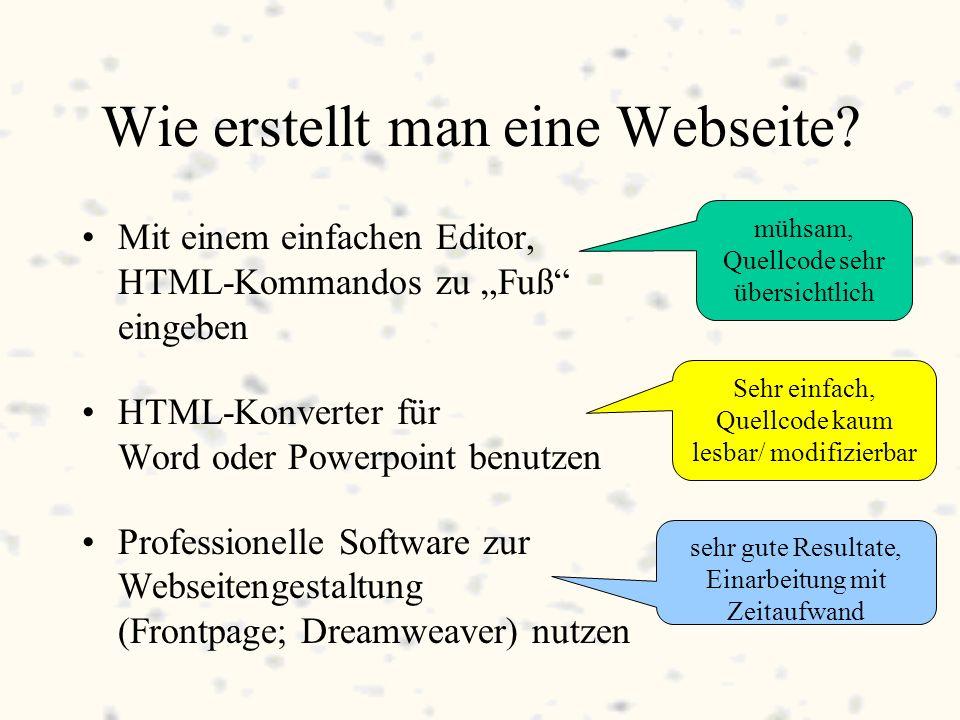 Wie erstellt man eine Webseite.