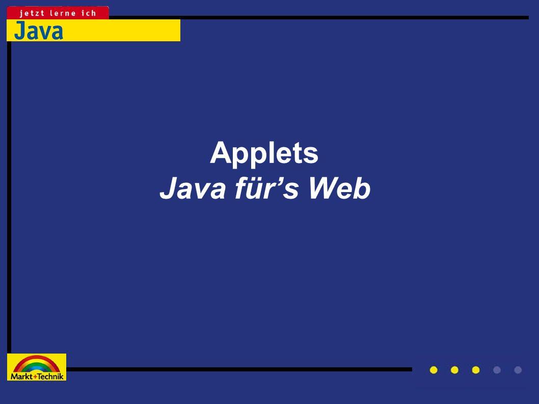 Applets Java fürs Web