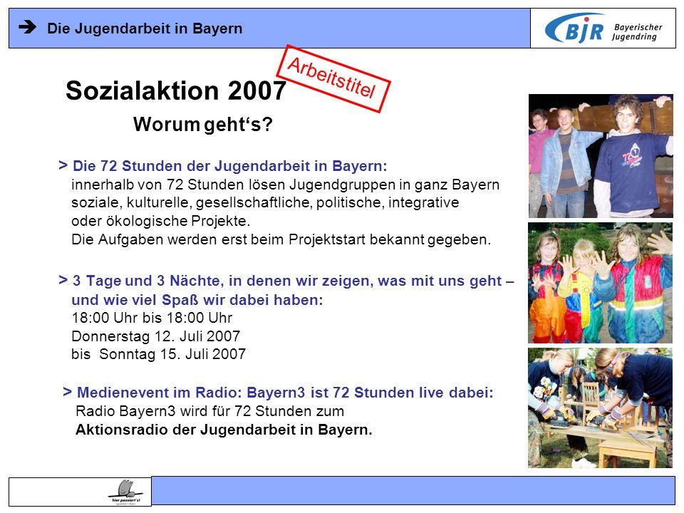 Die Jugendarbeit in Bayern > Die 72 Stunden der Jugendarbeit in Bayern: innerhalb von 72 Stunden lösen Jugendgruppen in ganz Bayern soziale, kulturell