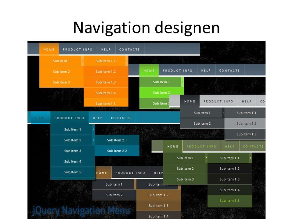 Navigation designen