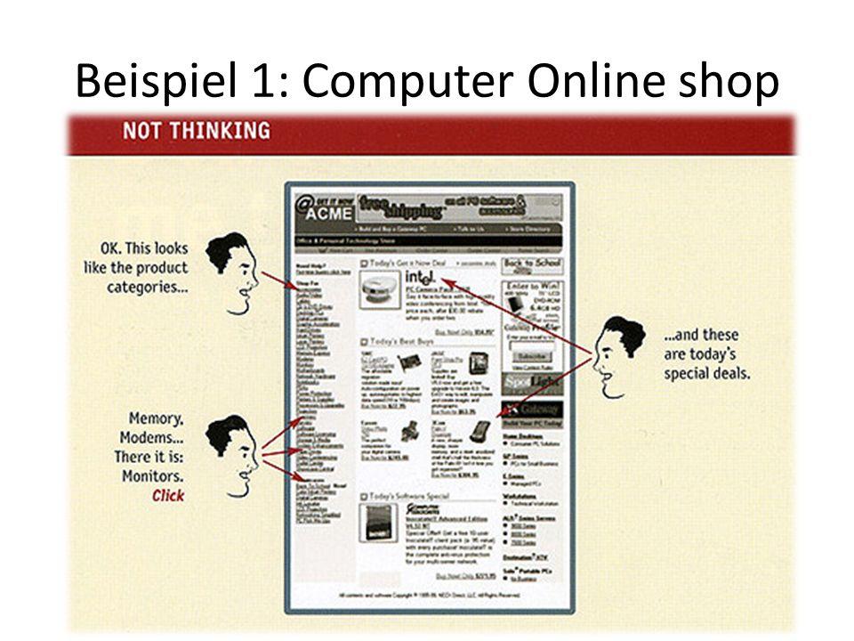 Beispiel 1: Computer Online shop