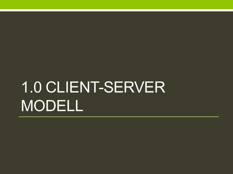 1.0 CLIENT-SERVER MODELL