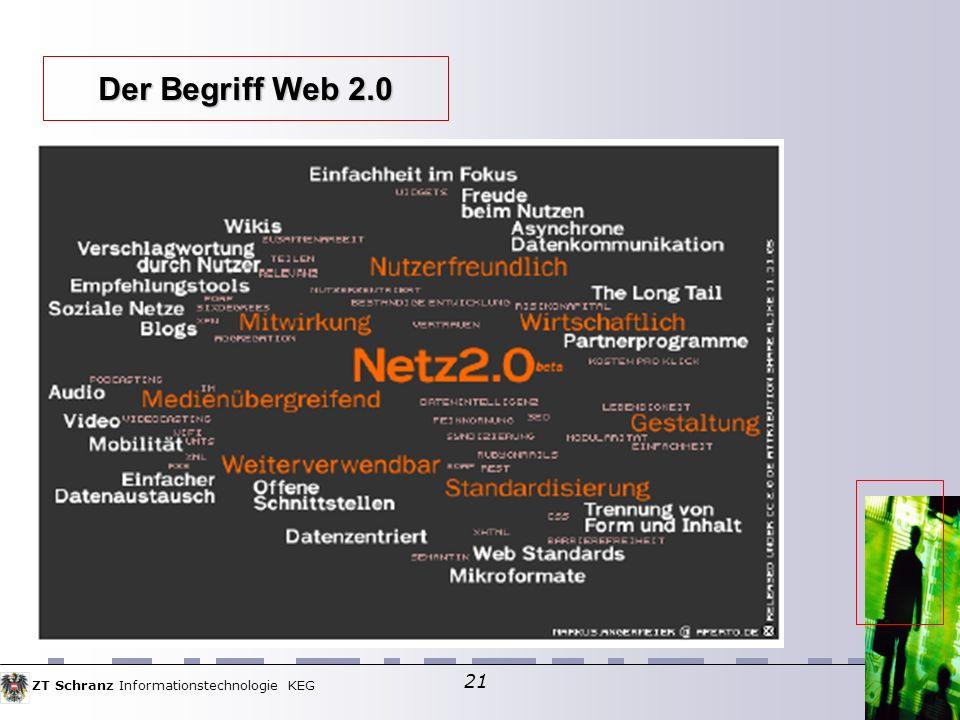 ZT Schranz Informationstechnologie KEG 21 Der Begriff Web 2.0