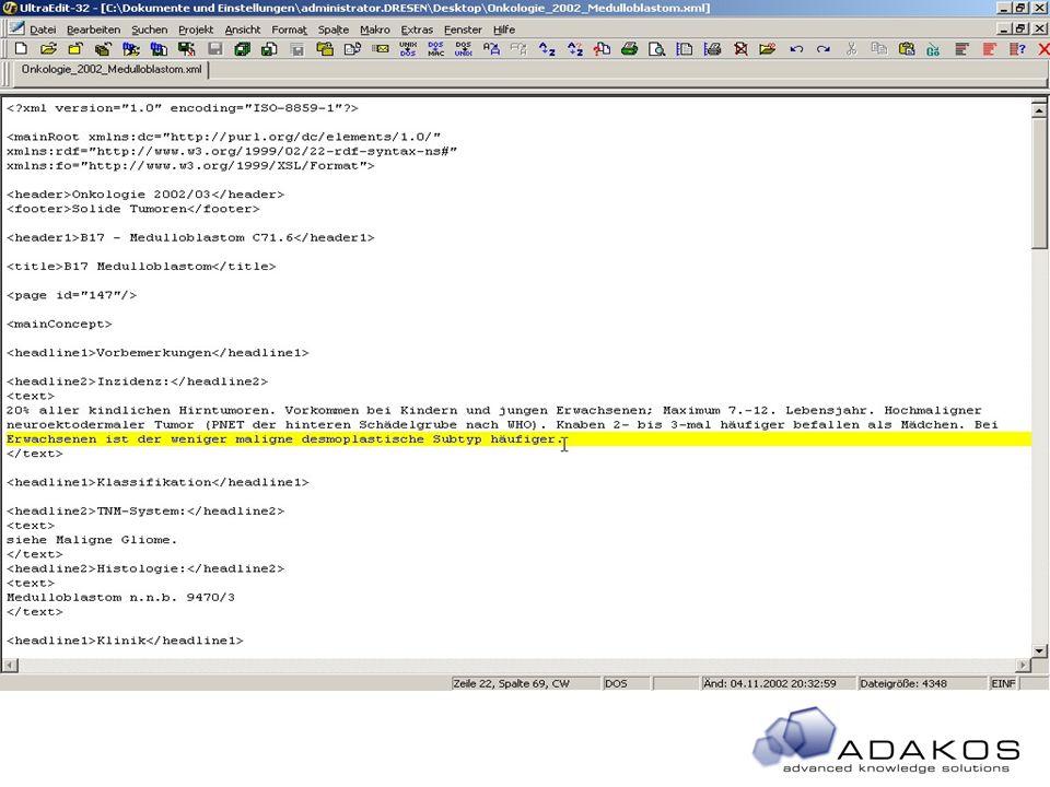 50 All rights reseved © 2002 XML-Wissenscontainer zu Layout-XML XML Dokument (KM) XSL Prozessor XSL Vorlagen XML Dokument (Layout)