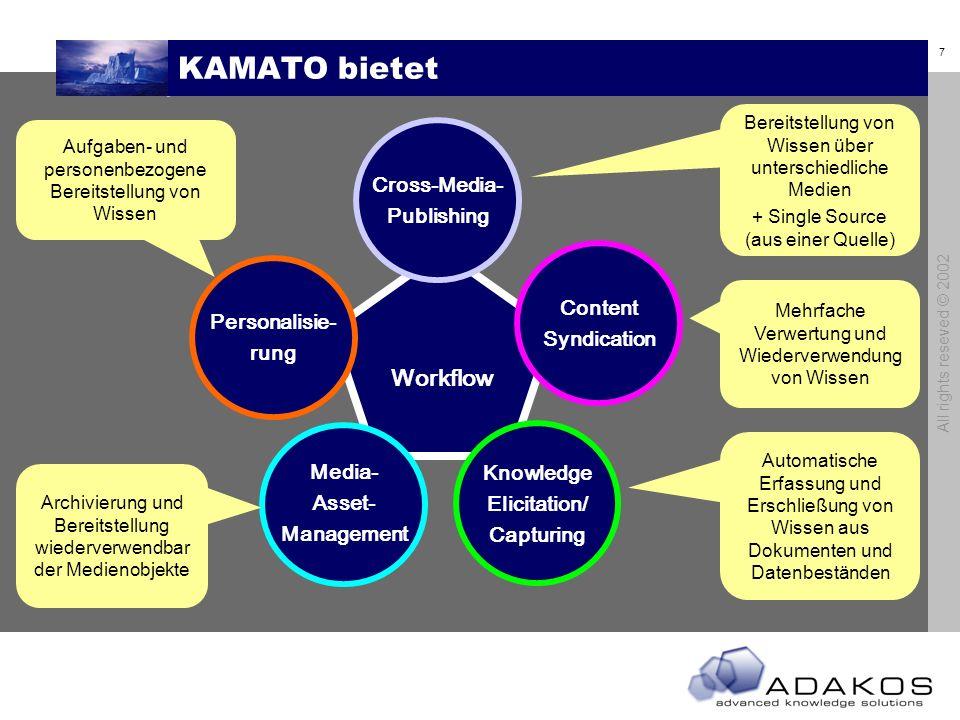 6 All rights reseved © 2002 KAMATO – Scope : & PS 1 PS2 PS3 PS4 Wissen/Information Erfassen Erschließen Verwalten Verfügbar machen