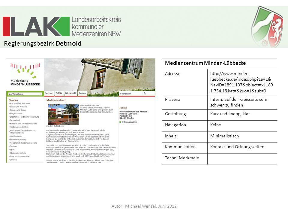 Medienzentrum Oberhausen Adresse PräsenzExtern Gestaltung Navigation Inhalt Kommunikation Techn.