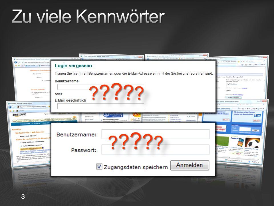 Selbstausgestellte Karten Enthält vom Nutzer aufgestellte Identitäts- behauptungen Nicht überprüft Lokal gespeichert Signiert und ver- schlüsselt, geschützt vor replay-Angriffen Verwaltete Karten Von einem Identitäts- anbieter (Bank, Behörde, Verein, …) ausgestellt Lokal nur Metadaten gespeichert Daten werden beim Identitätsanbieter gespeichert 14