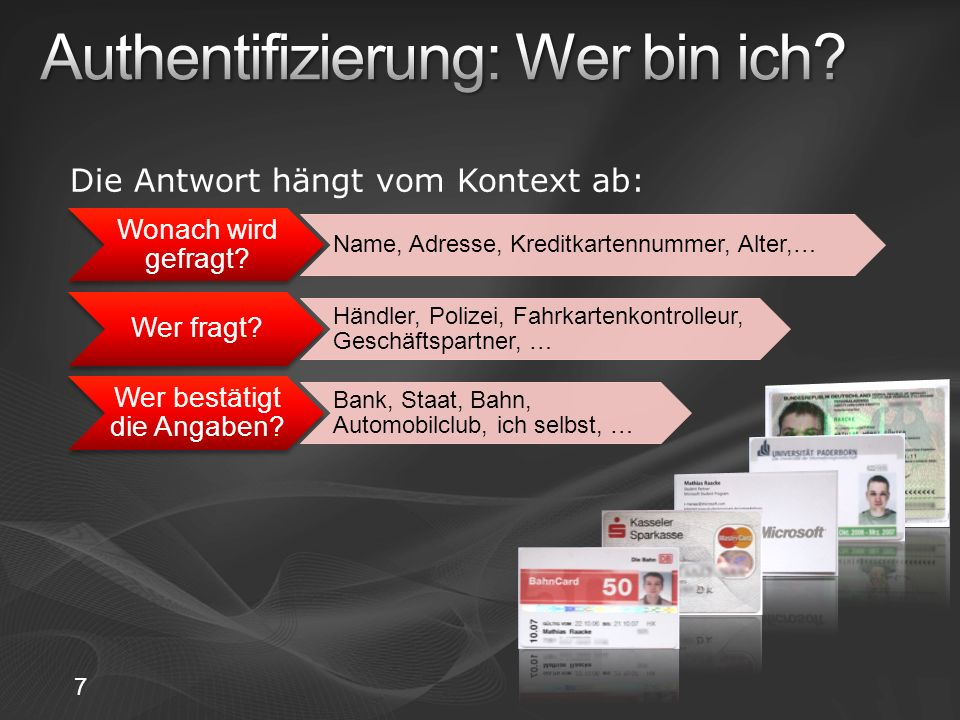CREATE PROCEDURE aspnet_CardSpace_lookup (@card nvarchar(50) ) AS SELECT UserName FROM aspnet_Users WHERE UniqueHash = @card CREATE PROCEDURE aspnet_CardSpace_associate (@UserID nvarchar(256), @card nvarchar(50) ) AS UPDATE aspnet_Users SET UniqueHash = @card WHERE UserName = @UserID 28