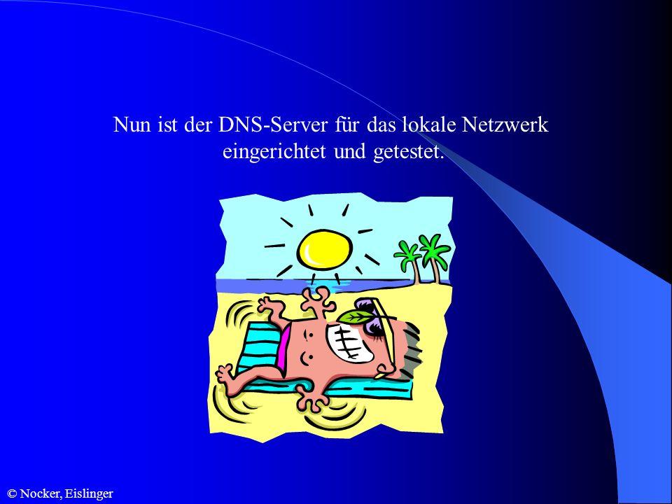 © Nocker, Eislinger Nun ist der DNS-Server für das lokale Netzwerk eingerichtet und getestet.