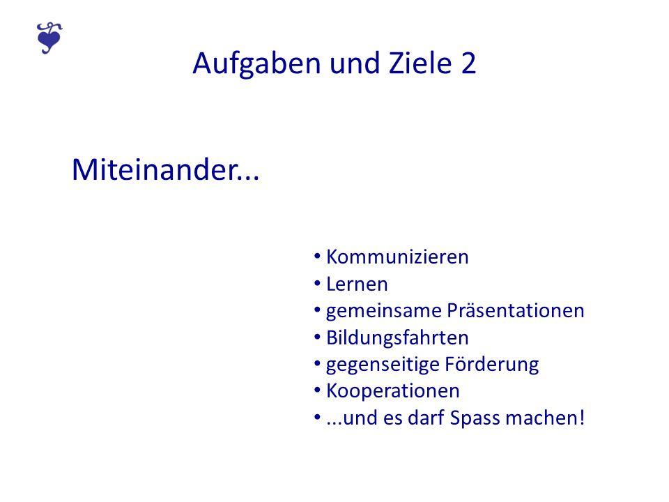 Aufgaben und Ziele 2 Miteinander...