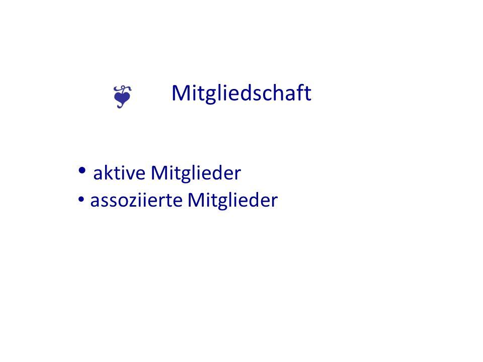 Mitgliedschaft aktive Mitglieder assoziierte Mitglieder