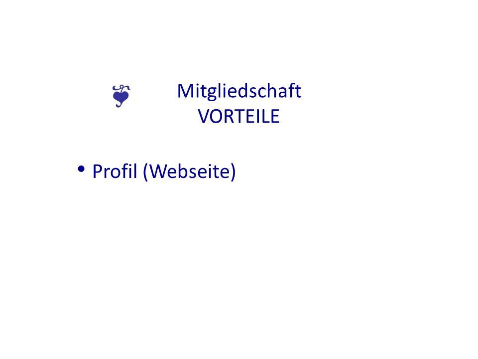 Mitgliedschaft VORTEILE Profil (Webseite)