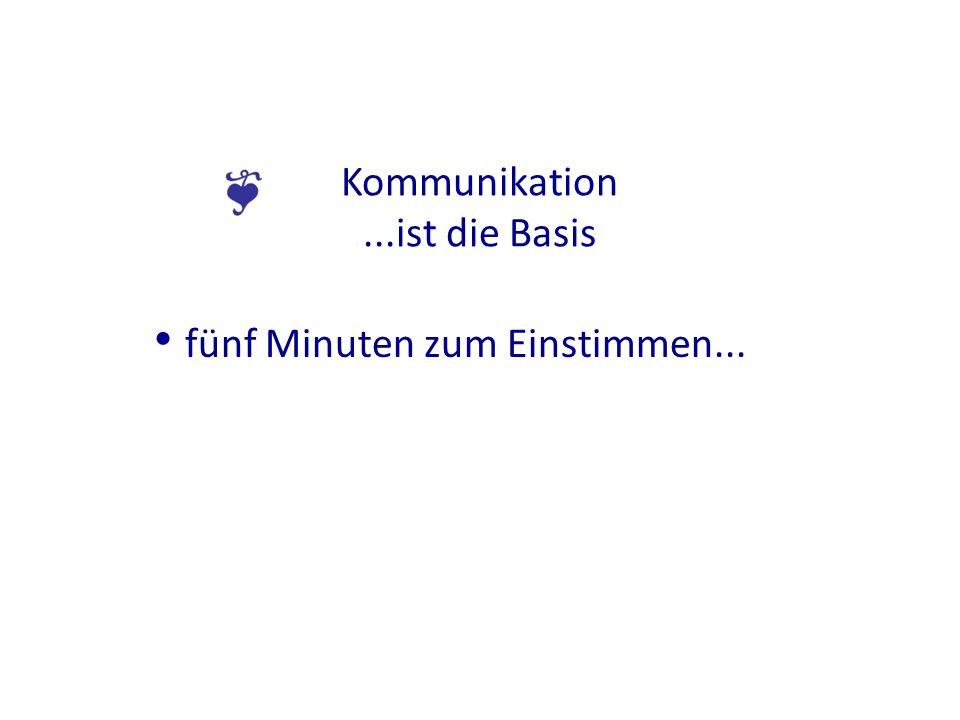 Kommunikation...ist die Basis fünf Minuten zum Einstimmen...