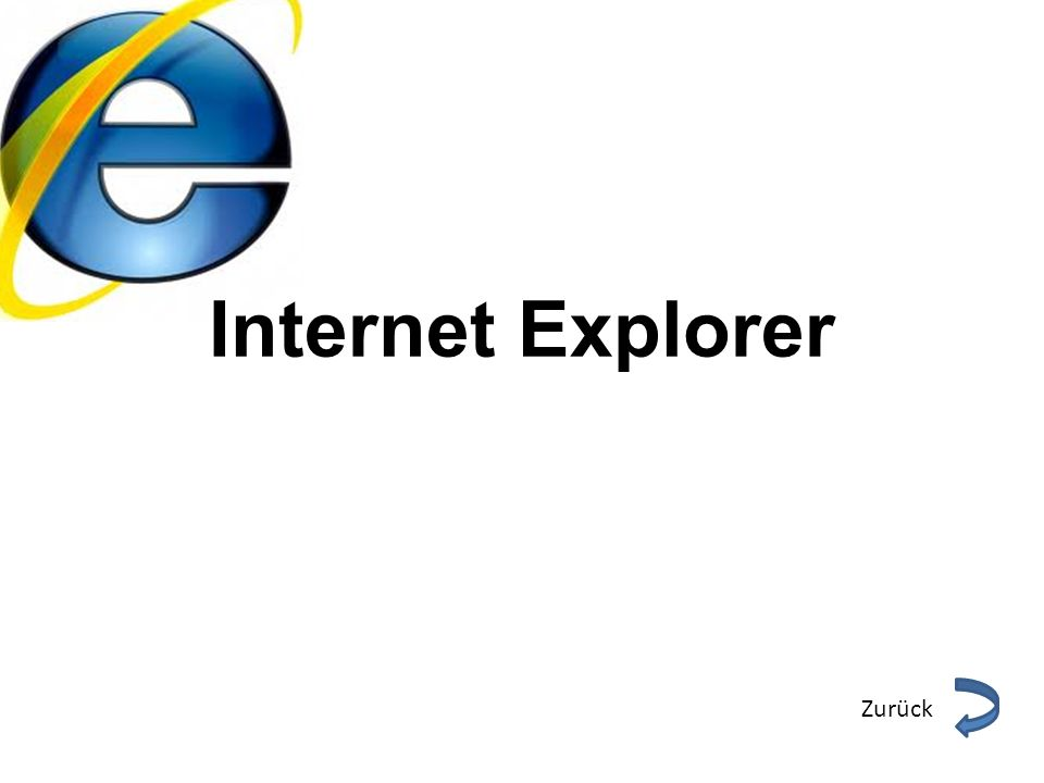 Internet Explorer Zurück