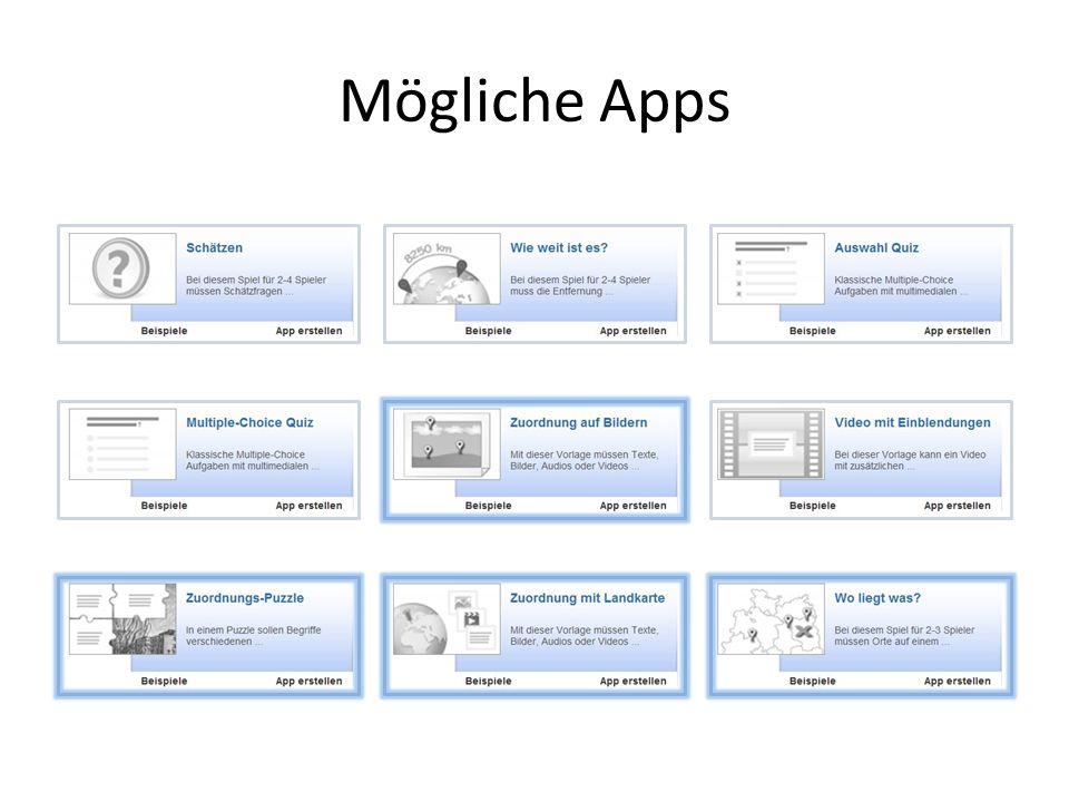 Mögliche Apps