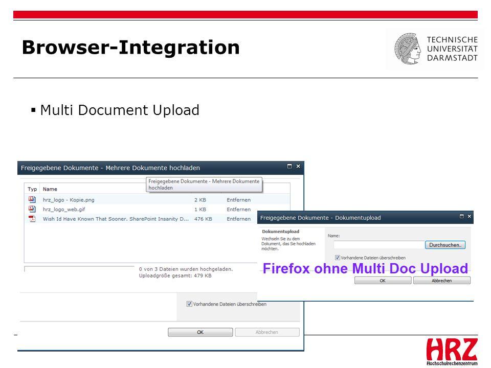 Browser-Integration Multi Document Upload