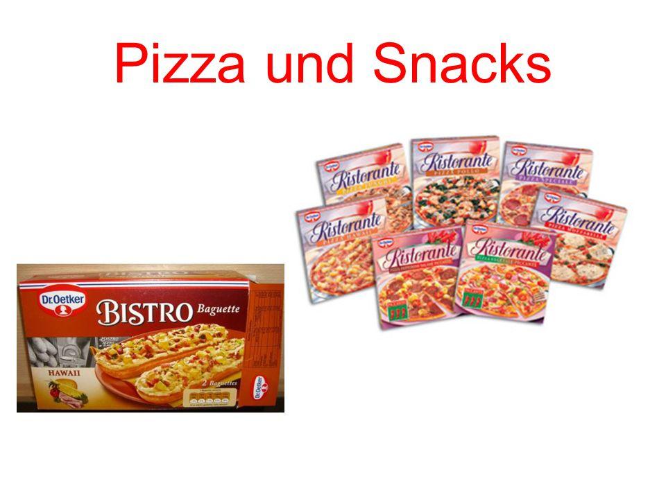 Pizza und Snacks