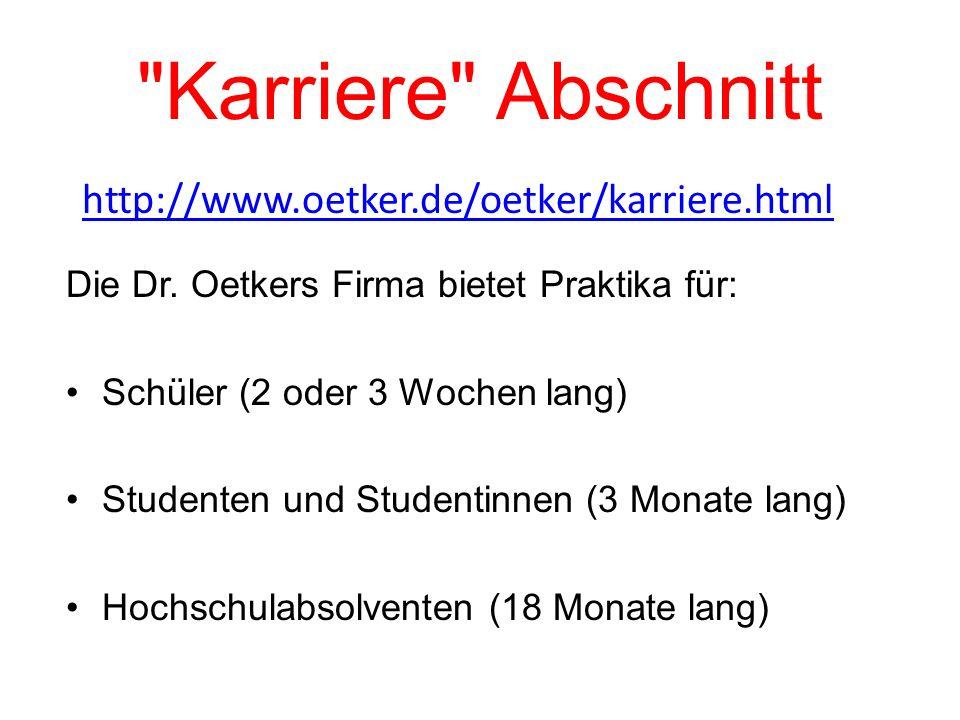 Karriere Abschnitt Die Dr.