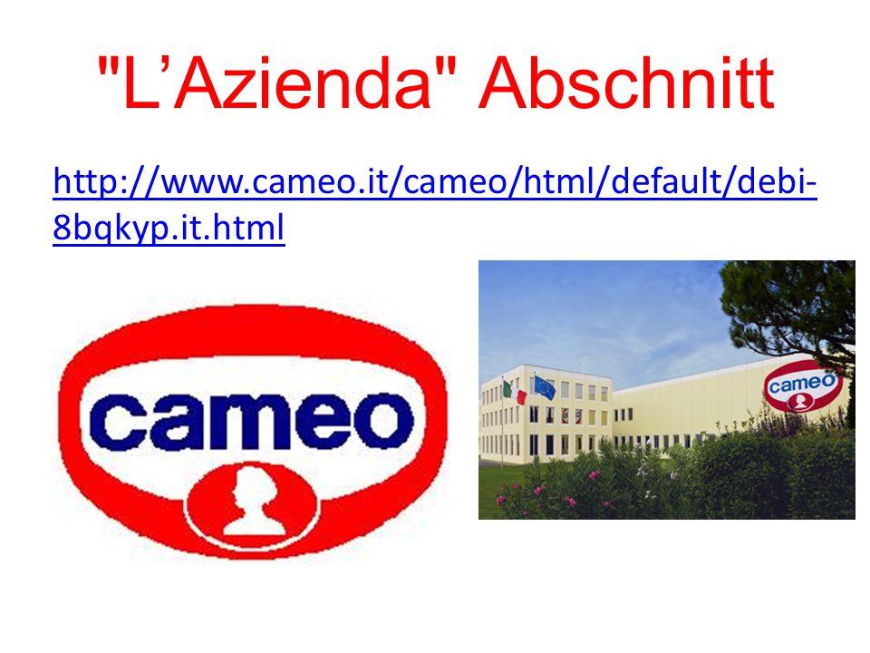 LAzienda Abschnitt http://www.cameo.it/cameo/html/default/debi- 8bqkyp.it.html